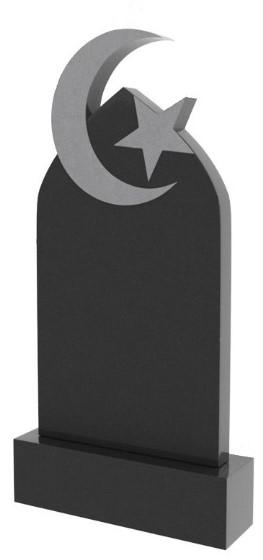 памятник с полумесяцем и звездой