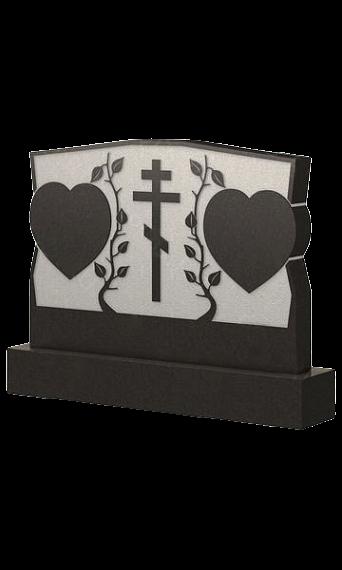 двойной памятник-сердце